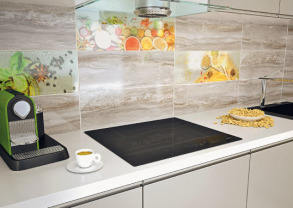 ДЕКОР CERAMIKA KONSKIE PRATO GLASS KITCHEN 3 INSERTO SZKLANE 20х60 стіна (сірий). Фото 3