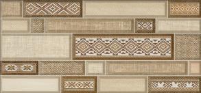 Декор для плитки TEXTILES коричневий  23х50 Д182 031