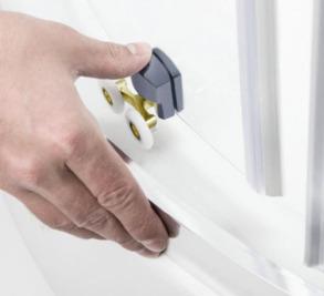 Lidz Гідробокс TANI 90x90 піддон високий, скло Frost 4мм + стінки WHI . Фото 8